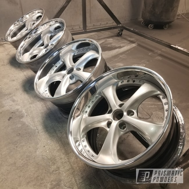 Powder Coating: Wheels,Automotive,Clear Vision PPS-2974,Heavy Silver PMS-0517,Volkswagen,Work Wheels