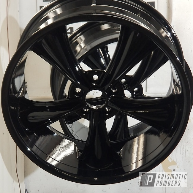 Powder Coating: Wheels,Automotive,Custom Rims,Rims,Ink Black PSS-0106