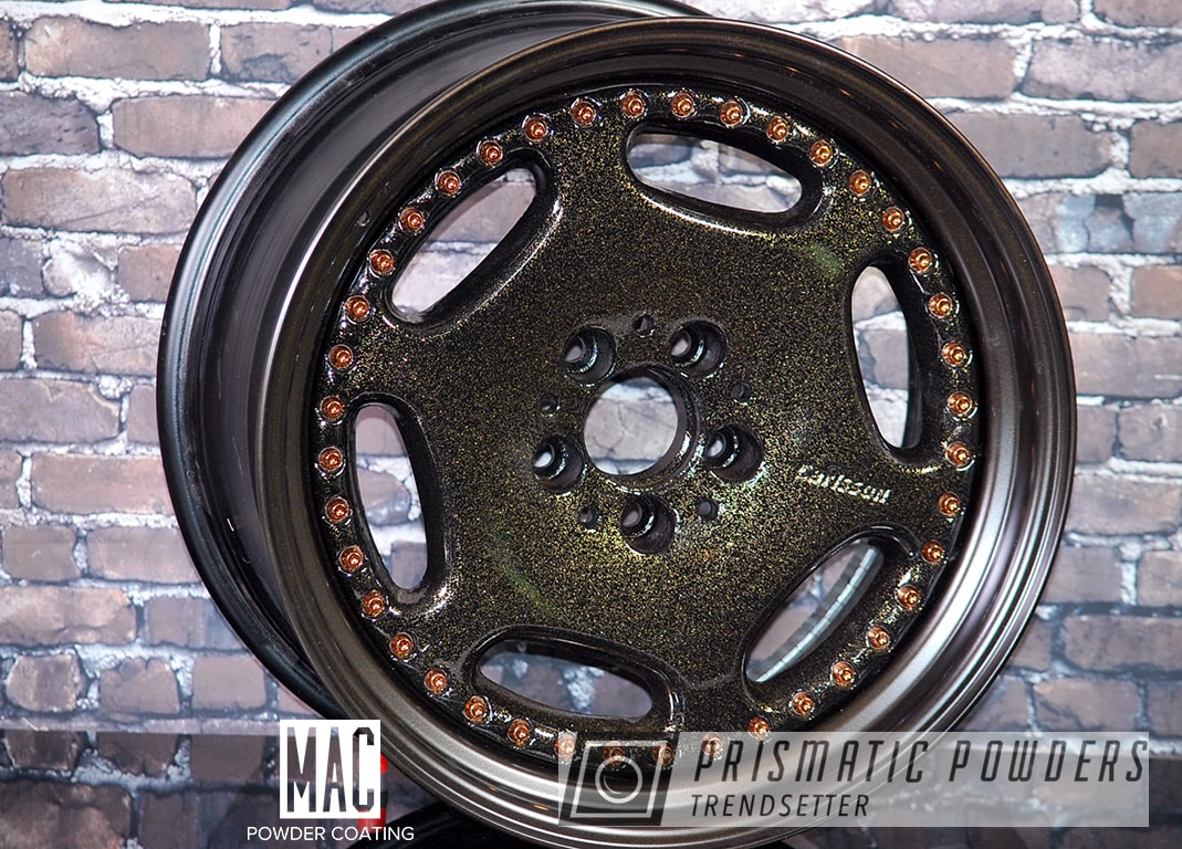 Powder Coating: Anodized Bronze PMB-4158,Automotive,Carlsson Rims,BLACK JACK USS-1522,Multi Stage Application,Rims,Disco Nights PPB-7055,Carlsson Wheels,Three Piece Wheels,Metallic Powder Coating