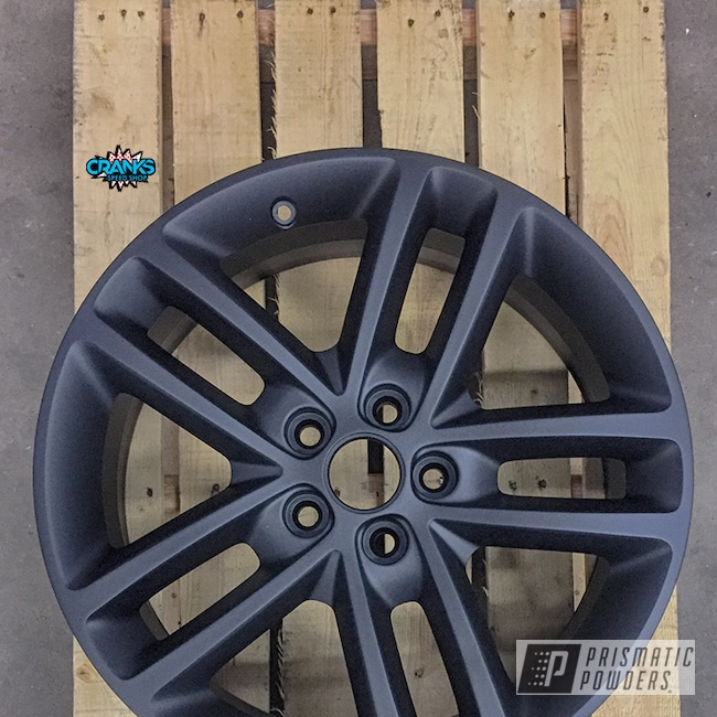 Powder Coating: Wheels,Color Match,Automotive,Satin,Dodge,Dodge Charger Wheels,Solid Tone,Silk Satin Black HSS-1336