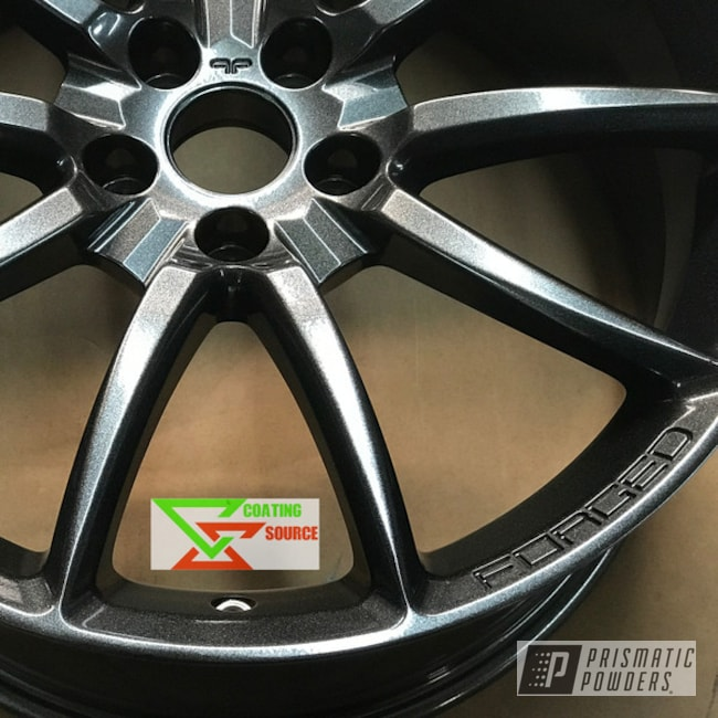 Powder Coating: Wheels,Automotive,Mustang Wheels,Ford Mustang,Cadillac Grey PMB-6377,Mustang