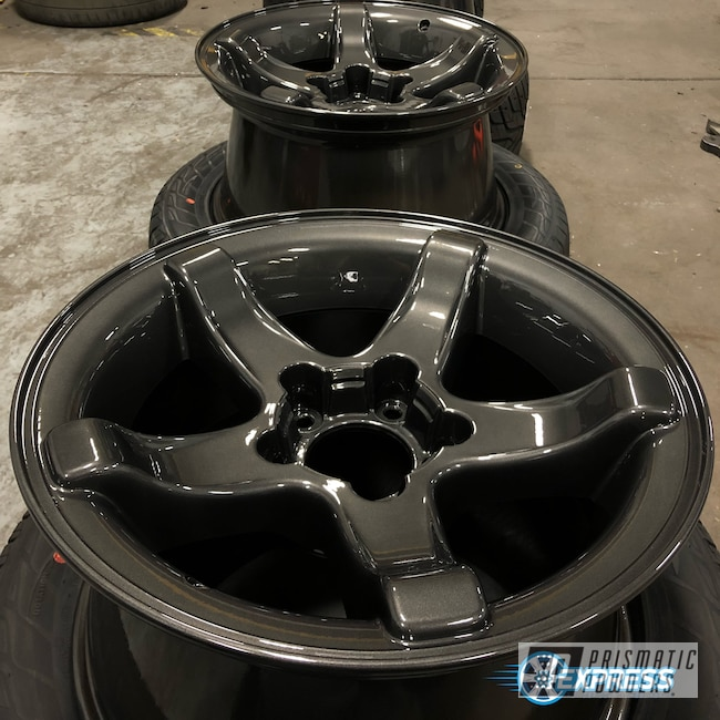 Powder Coating: Wheels,Automotive,Clear Vision PPS-2974,Wet Charcoal PMB-6480,Ford