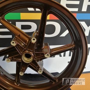 Honda 750 Vfr Wheels Shot In Misty Rootbeer