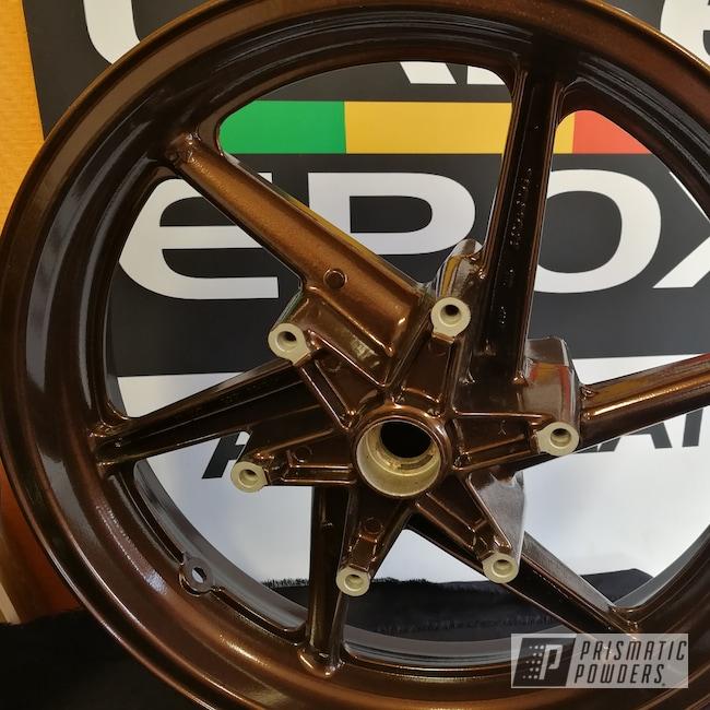 Powder Coating: Wheels,Laser Epoxy,Honda Motorcycle,Isle of Man TT,Honda,Misty Rootbeer,Motorcycles,TT Man Island,Misty Rootbeer PMB-1081