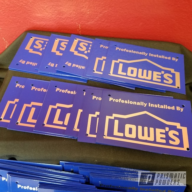 Powder Coating: RAL 5002 Ultramarine Blue,Sign,Custom Sign