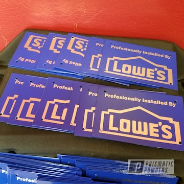 Custom Signs Coated In Ral 5002 A Classic Ultramarine Blue Color