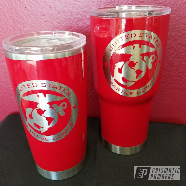 Powder Coating: Tumbler,Custom Drinkware,RAL 3002 RAL-3002,Custom Cup