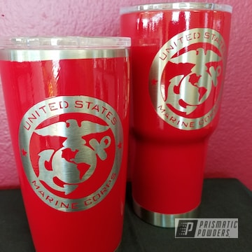 Cups Coated In Ral 3002 A Classic Carmine Red Color