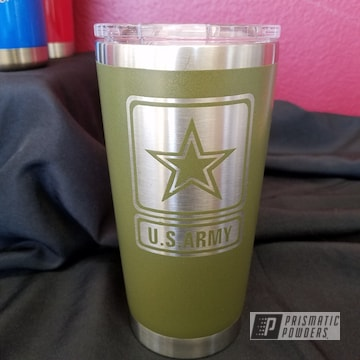 Army Green Coated Cup