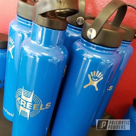 Powder Coating: Brazilian Blue PMB-0770,Custom Hydro Flask,Custom Drinkware,Custom Water Bottle