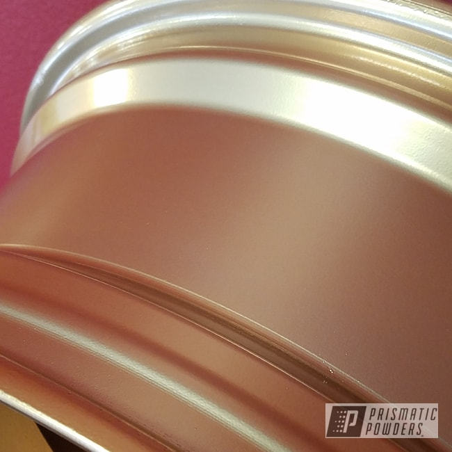 Powder Coating: Illusion True Copper PMB-10044,Automotive,Clear Vision PPS-2974,Two Stage Application,Custom Wheels