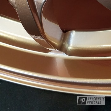 Custom Wheels done in Illusion True Copper and Clear Vision