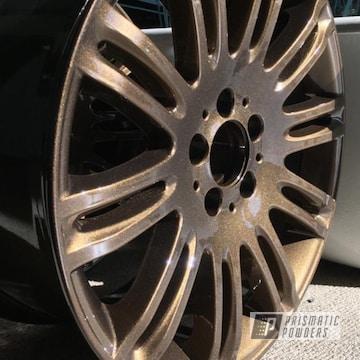Custom Tesla Rim coated in a Bronze Chrome Powder Coat