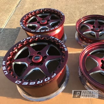 Forged Racing Wheels For An S550  In Super Red Sparkle