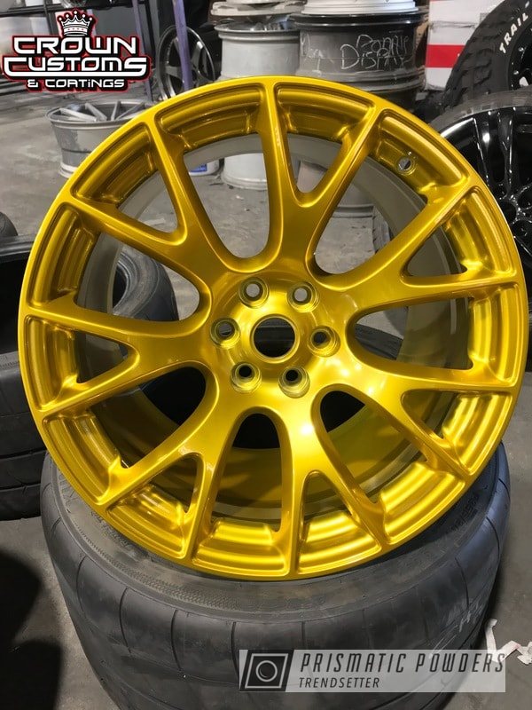Dodge Viper ACR wheels done in Illusion Gold with Clear Vision Top Coat