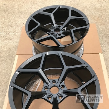 Zl1 Wheels Repaired In A Gloss Black Powder Coat