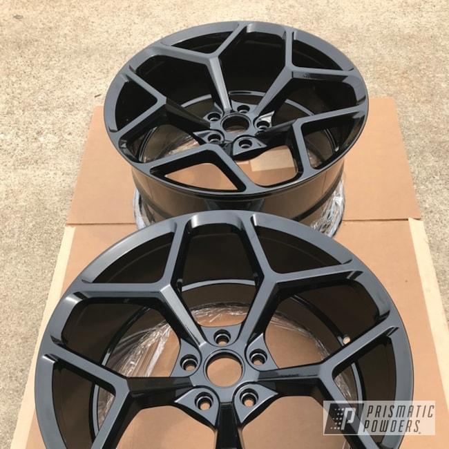 Powder Coating: Wheels,Automotive,GLOSS BLACK USS-2603,ZL1,Wheel Repair