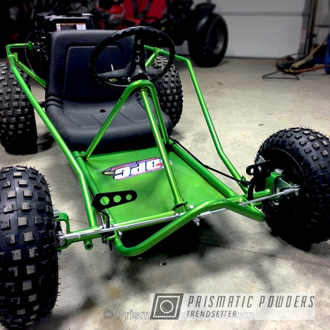Powder Coating: Illusion Lime Time PMB-6918,Clear Vision PPS-2974,Off-Road,Manco Go Kart,Complete Restoration,Miscellaneous