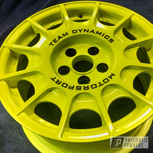 Powder Coating: Wheels,Automotive,STI,Custom Wheels,Rally,Rally Wheels,Neon Yellow PSS-1104,Subaru