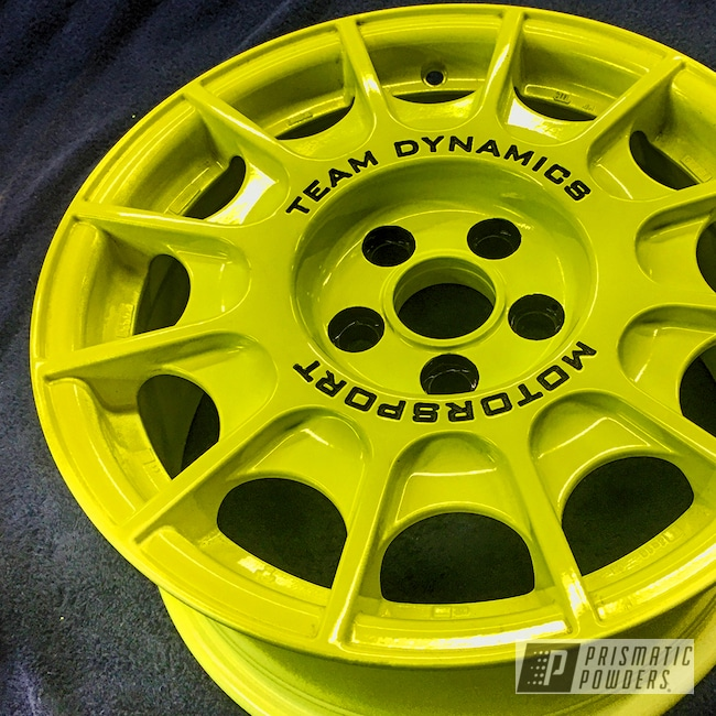 Powder Coating: Wheels,Automotive,STI,Custom Wheels,Rally,Rally Wheels,Neon Yellow PSS-1104,Subaru