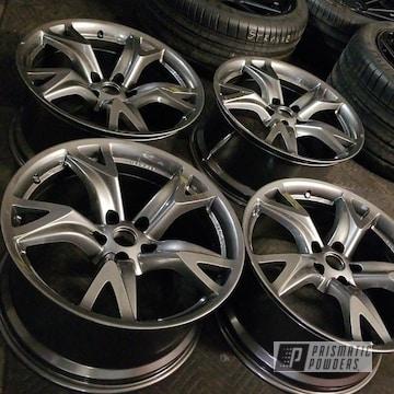 Nissan Wheels Done In Kingsport Grey Powder Coat