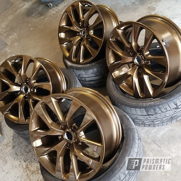 Powder Coated Wheels In A Bronze Chrome Finish