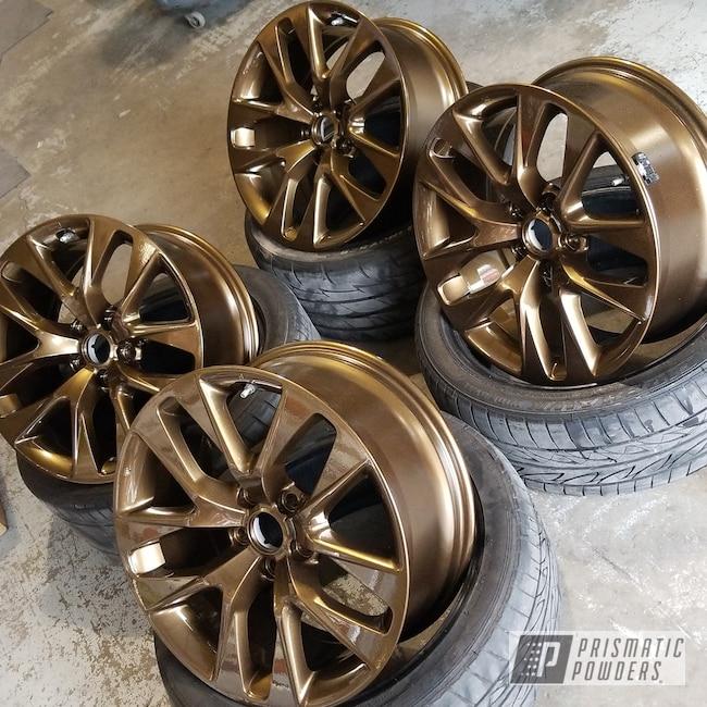Powder Coating: Wheels,Automotive,Bronze Chrome PMB-4124,Custom Powder Coated Wheels