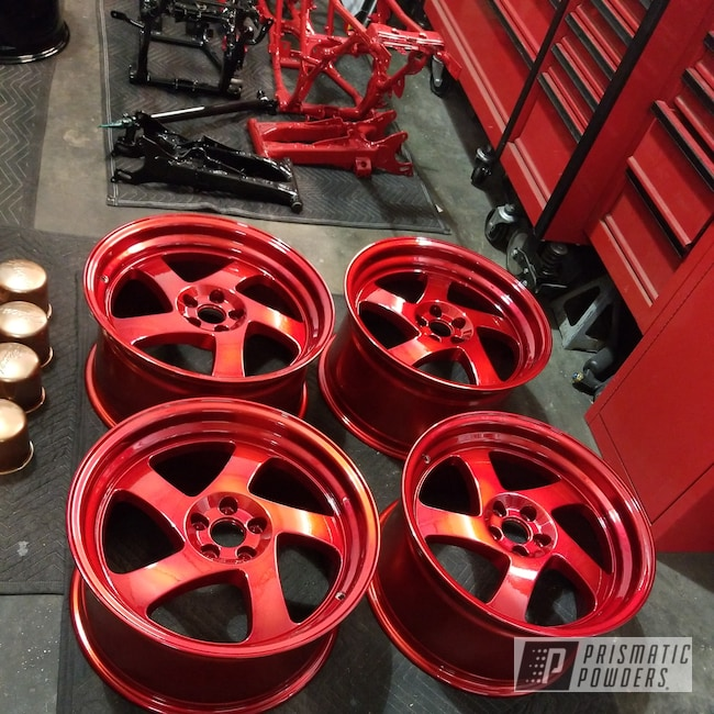 Powder Coating: Wheels,Automotive,LOLLYPOP RED UPS-1506,Candy wheels