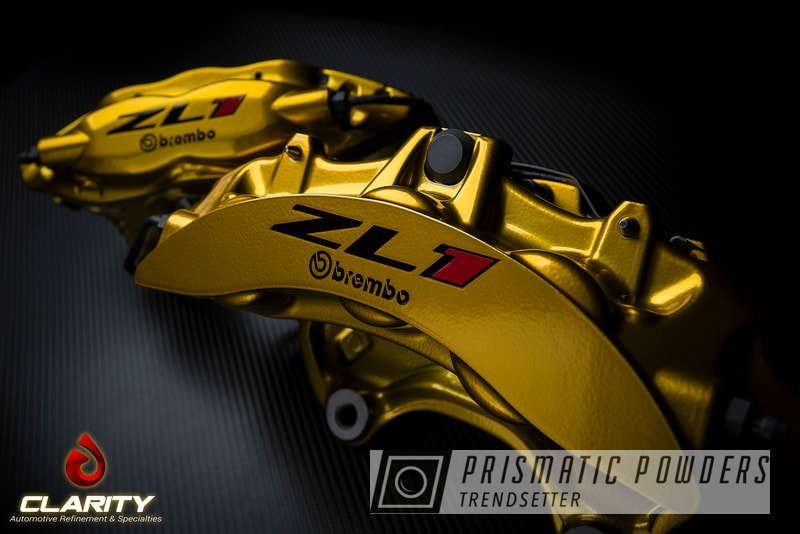 2013 Brembo Calipers In Illusion Gold/clear Vision With Cerakote E-series Smoke Hardware