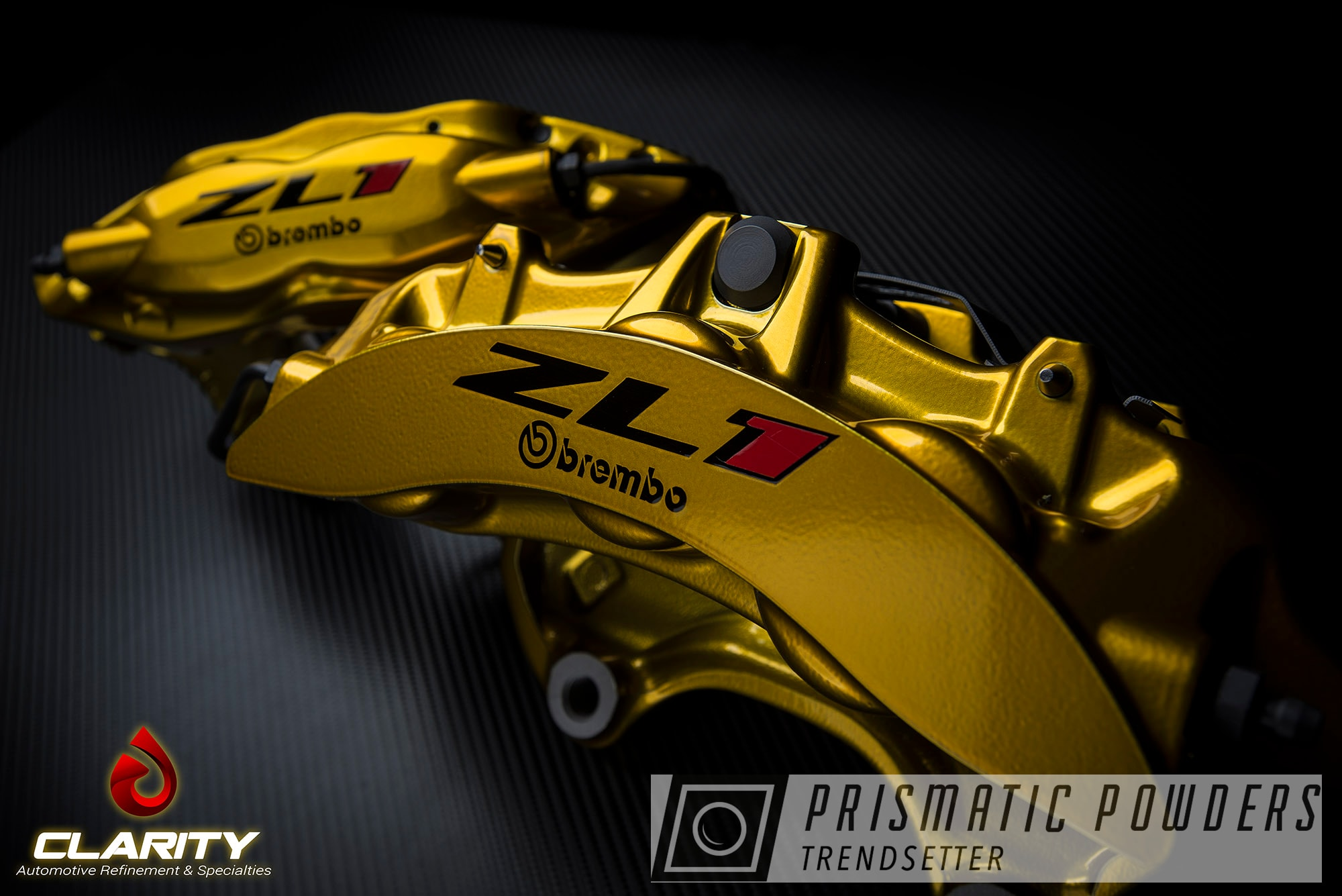 Powder Coating: Automotive,Illusion Gold PMB-10045,Clear Vision PPS-2974,Chevy Camaro,Brake Calipers,Brembo Brakes,Brembo Brake Calipers,Camaro ZL1,Camaro