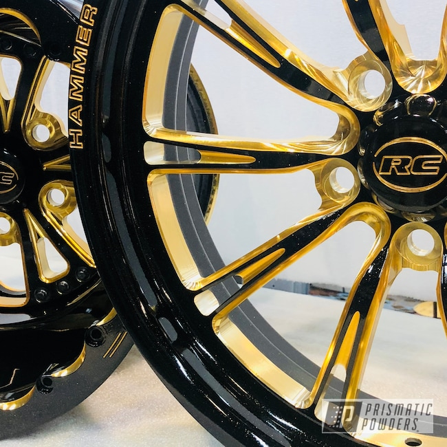 Powder Coating: Wheels,RC Components,Gold Sparkle PPB-4499,Motorcycles