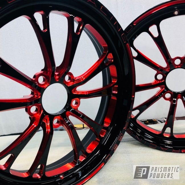 Powder Coating: Wheels,Automotive,LOLLYPOP RED UPS-1506,racing,WELD Wheels