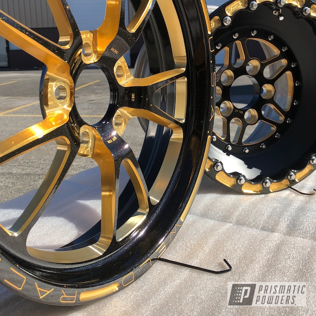 Powder Coating: Wheels,Automotive,Gold Sparkle PPB-4499,Belak Wheels,racing,WELD Wheels