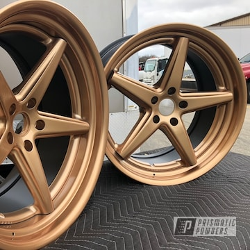 Vossen Wheels In Illusion True Copper And Clear Vision Powder Coat