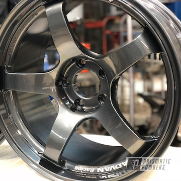 Advan Wheels In A Soft Misty Black And Clear Vision Powder Coat