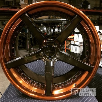 Incurve Custom Wheels Finished In Transparent Copper, Liquid Smoke And Clear Vision Powder Coat