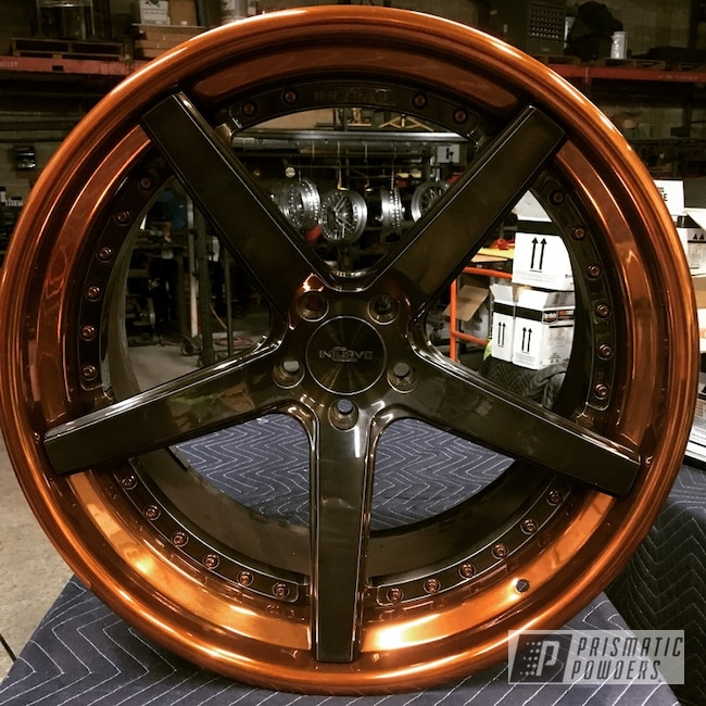 Powder Coating: Wheels,Automotive,Clear Vision PPS-2974,Transparent Copper PPS-5162,Incurve Custom Wheels,Liquid Smoke PPS-3081