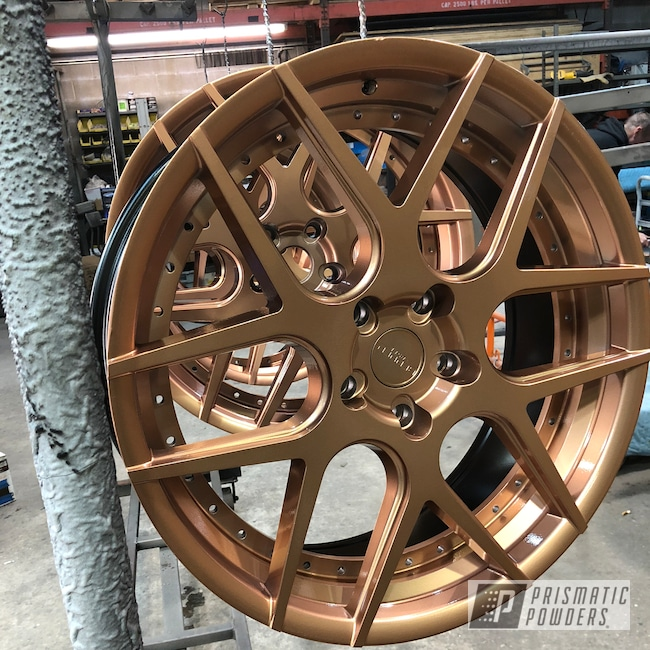 Powder Coating: Illusion True Copper PMB-10044,Wheels,Automotive,Clear Vision PPS-2974,Rennen Wheels