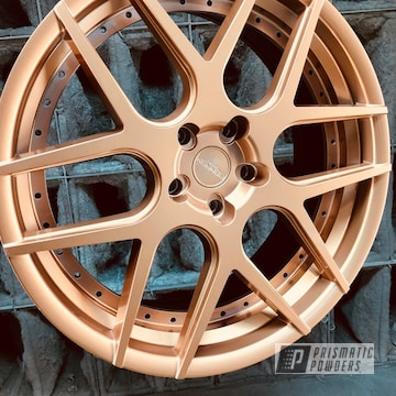 Rennen Wheels Finished In Illusion True Copper And Clear Vision Powder Coat