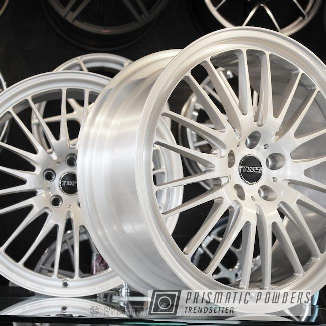 Powder Coating: Single Powder Application,Wheels,Automotive,Pearl White PMB-4364,Forged Monoblock Wheels,TWS Forged Wheels