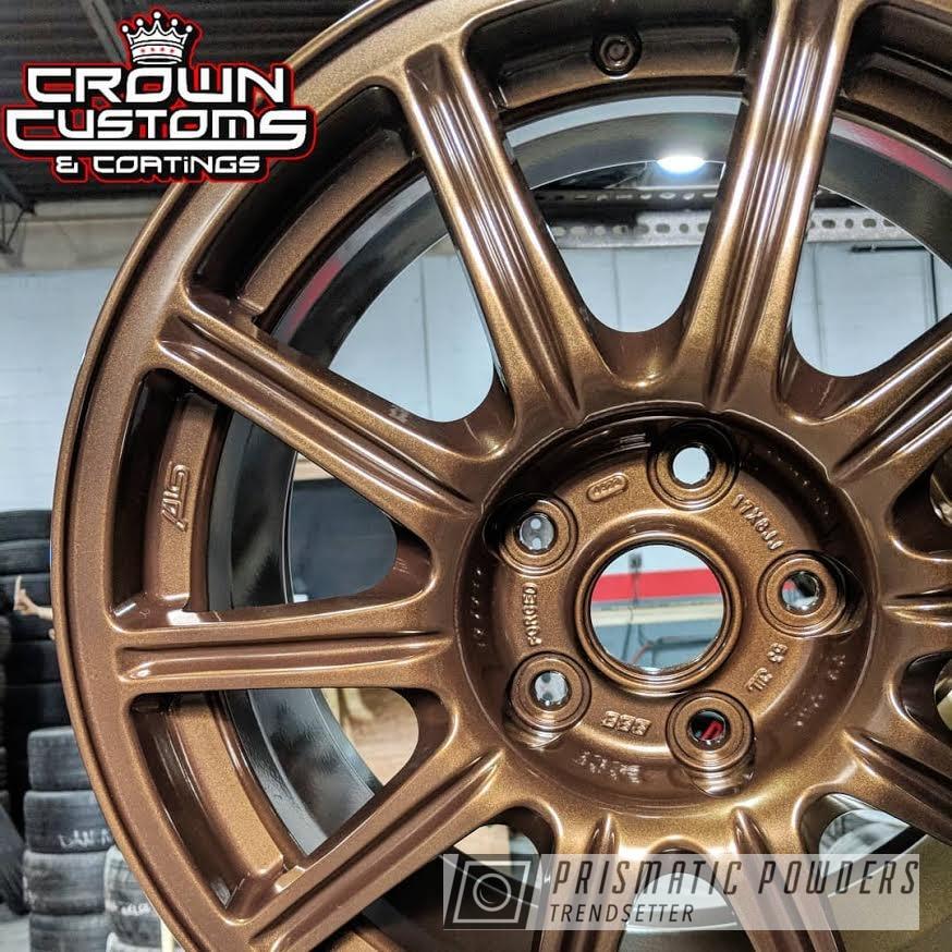 Powder Coating: Wheels,Custom,GOLDEN BROWN UMB-4133,Automotive,Bronze,Subaru STI Wheels,Rims,Subaru,Suburu Wheels,Brown,Gold