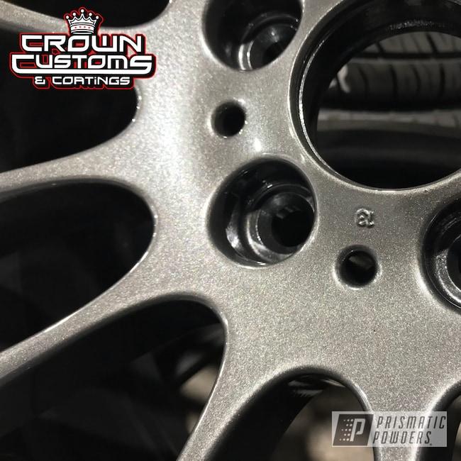 Powder Coating: Wheels,Automotive,Audi Wheels,Graphite Charcoal PMB-5458,Clear Vision PPS-2974,Audi