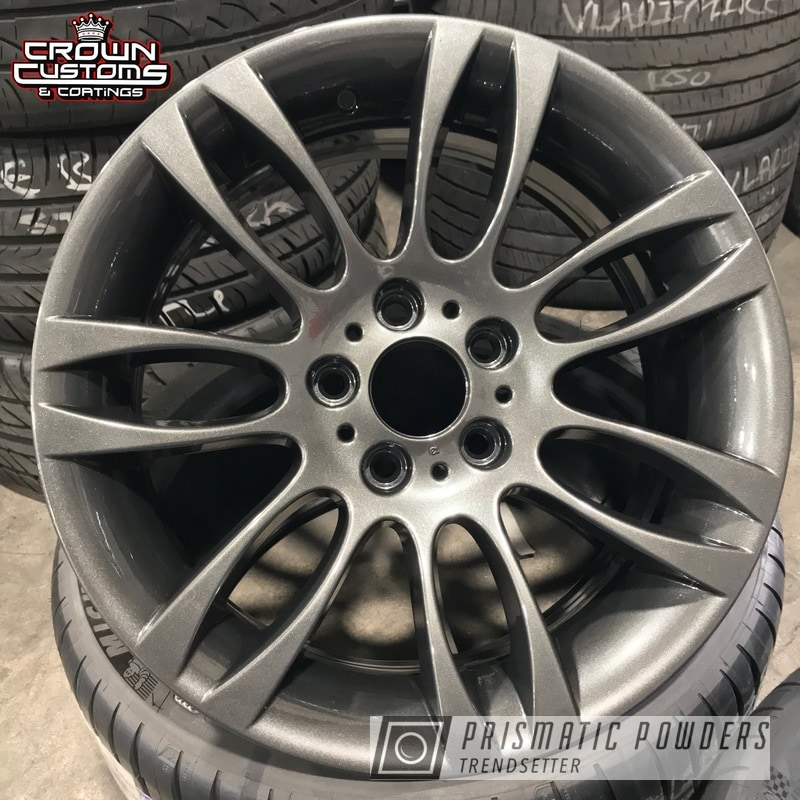 Powder Coating: Wheels,Automotive,Audi Wheels,Graphite Charcoal PMB-5458,Clear Vision PPS-2974,Audi