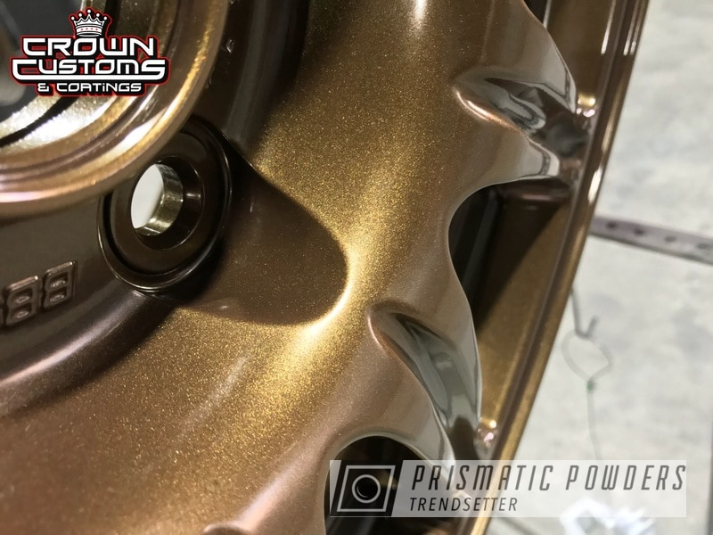 Subaru Sti Wheels Refinished In Golden Brown