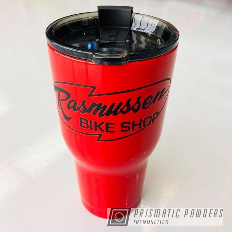 Powder Coating: Tumbler,RTIC,Black Jack USS-1522,Custom Cup,Astatic Red PSS-1738,Custom Tumbler Cup