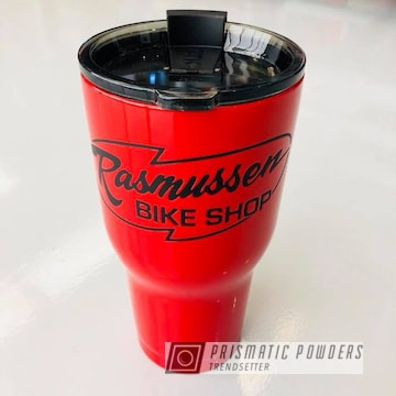 Tumbler Cup In Astatic Red With Black Jack Accents
