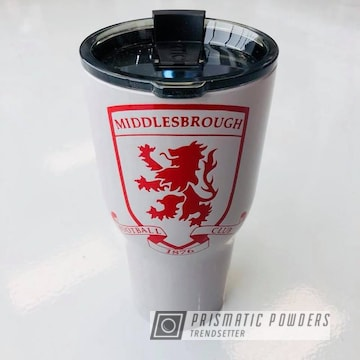 Custom Cup In Grey Gloss And Ral 3003 A Classic Ruby Red Color