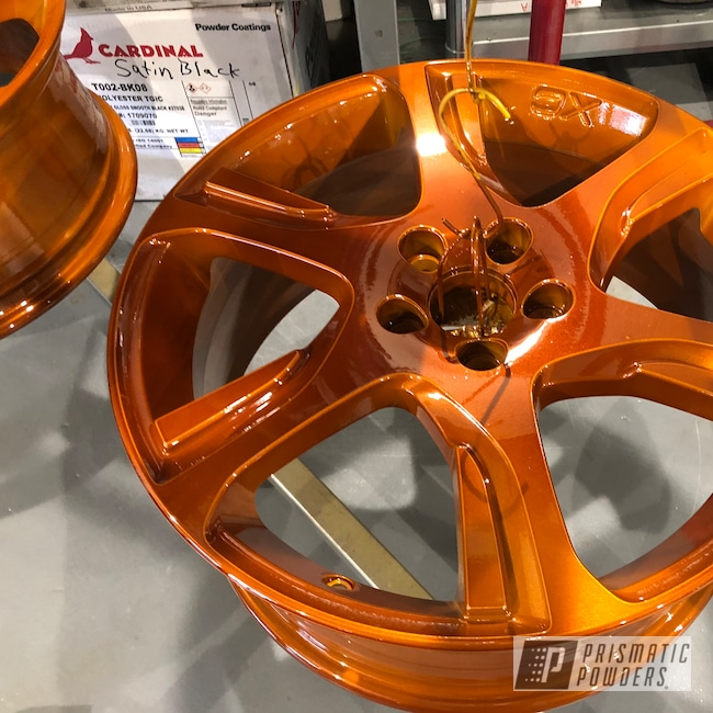 Powder Coating: Wheels,Automotive,Transparent Copper PPS-5162,Volvo,Royal Gold PMB-5742,Rims,Royal Gold
