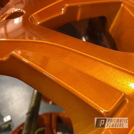 Powder Coating: Wheels,Automotive,Transparent Copper PPS-5162,Volvo,Royal Gold PMB-5742,Rims,Royal Gold