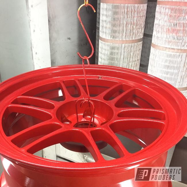Powder Coating: Wheels,Enkei Rims,Automotive,Enkei Wheels,Heavy Silver PMS-0517,Custom Wheels,LOLLYPOP RED UPS-1506,RPF1